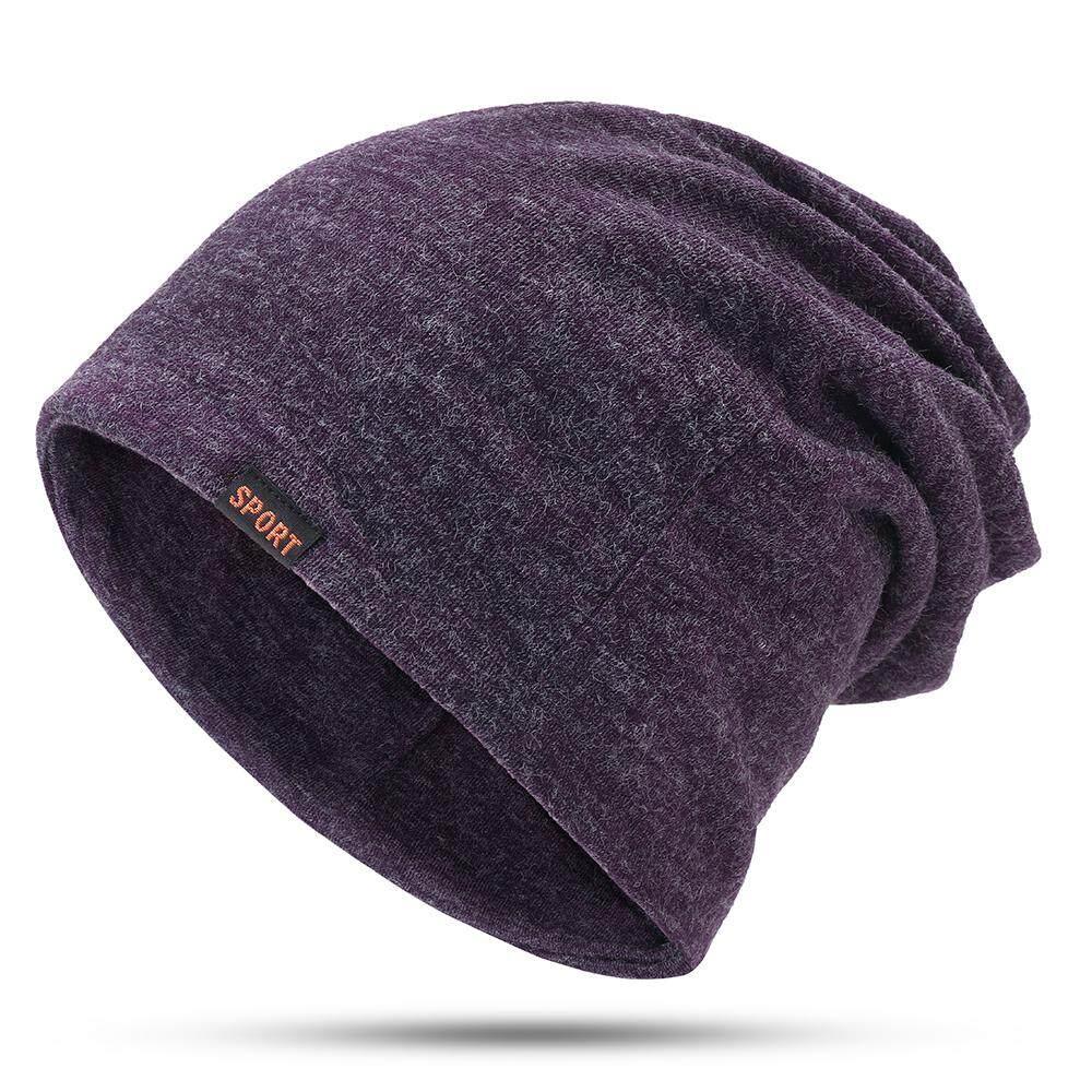 f1e4ab5f2cd Womens Mens Wild Winter Solid Color Cotton Beanie Cap Earmuffs Warm Outdoor  Casual Hats