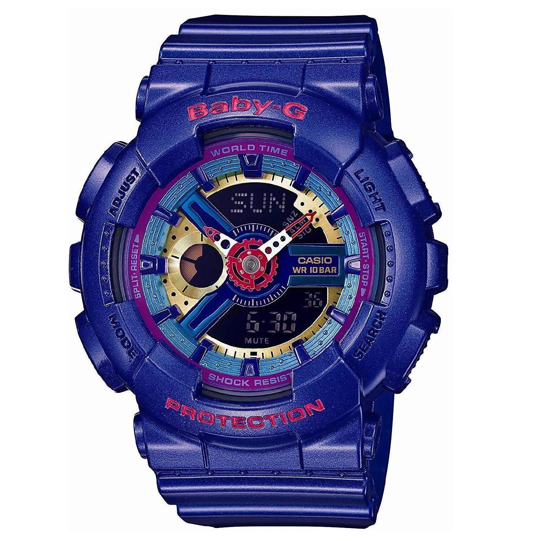 (OFFICIAL MALAYSIA WARRANTY) Casio Baby-G BA-112-2A Standard Analog & Digital Womens Resin Watch (Blue) Malaysia
