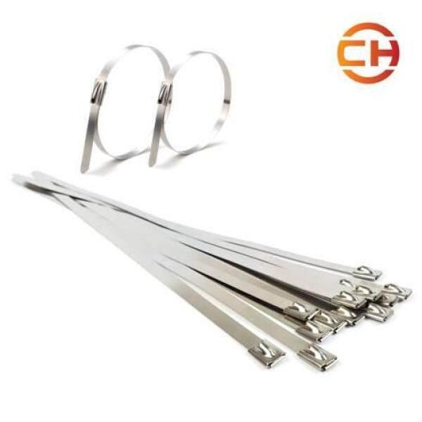 10pcs Strong Stainless Steel Marine Grade Metal Cable Ties Zip Tie Wraps Exhaust