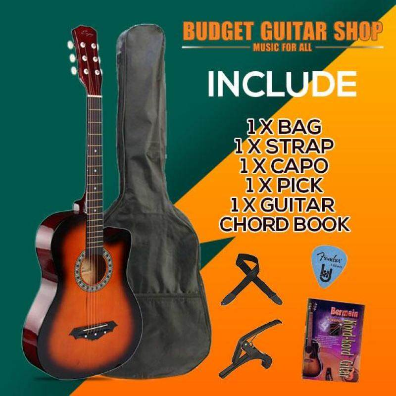 Enjoy 38 inch Acoustic Guitar Beginner Package for Beginner With Capo Malaysia