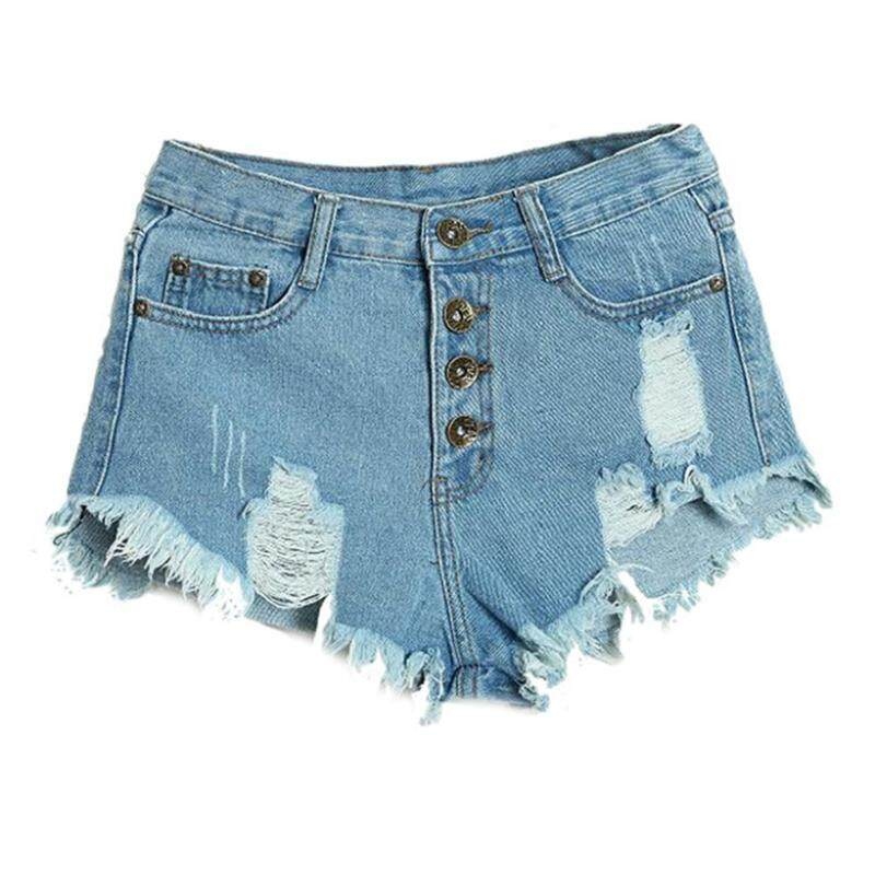 Womans Amazing Summer Sexy Womens Lady Fashion Slim Fit Bore Hole Denim Shorts(blue,xl/us-8~10) By Fastour.