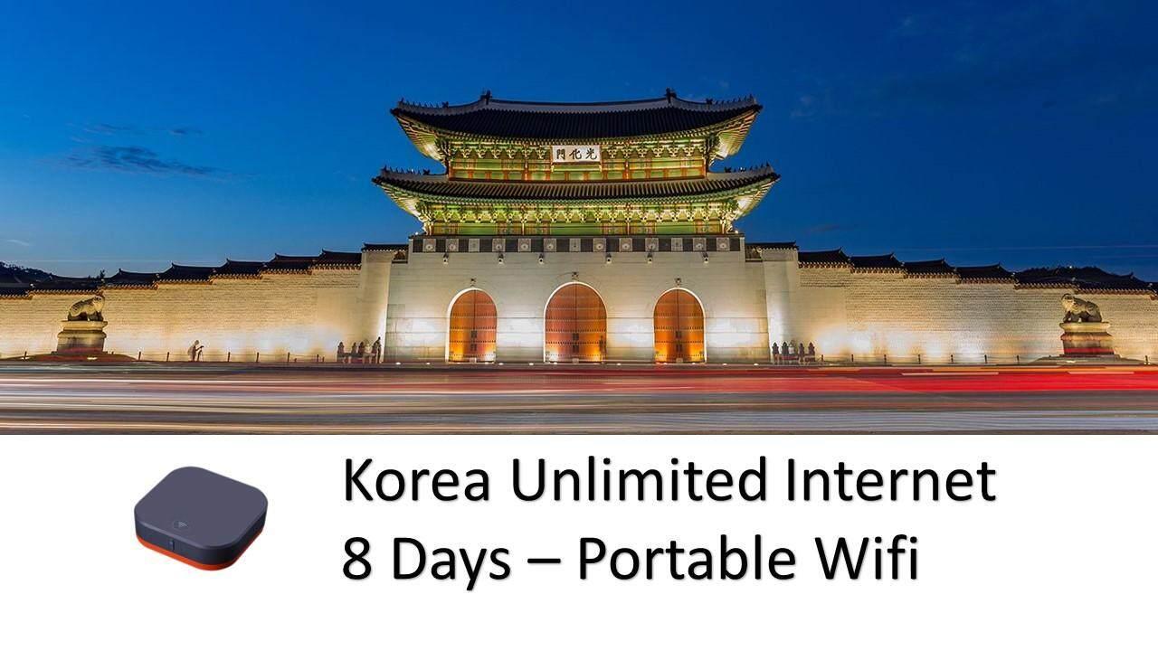Korea 8 Days Unlimited Internet Portable Wifi (Refundable Deposit RM200)