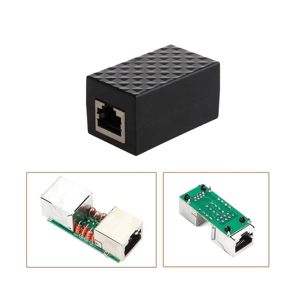 Rj45 Lan Adapter Ethernet Network Protect Device Arrester Surge Protector By Dewittshop.