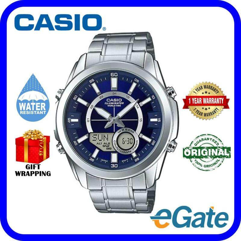Casio AMW-810D-2AV Unisex Watch Analog Digital Combination Timepieces Original Malaysia