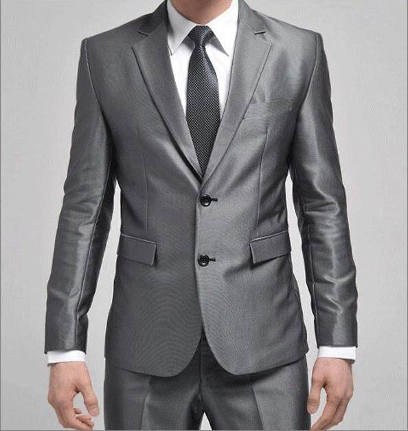 New Best Selling Groomsmen Slim Fit Suit Silver Grey Palace Men Wedding Suits Groom Tuxedos For Men(jacket+pants+tie) By Yangs House.