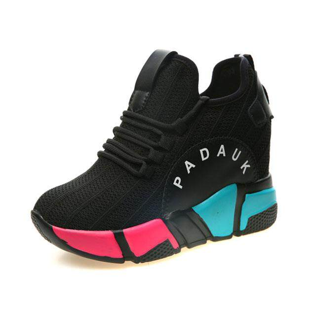 STFSneakers Thick bottom Korean style Leisure slope and sponge cake shoes