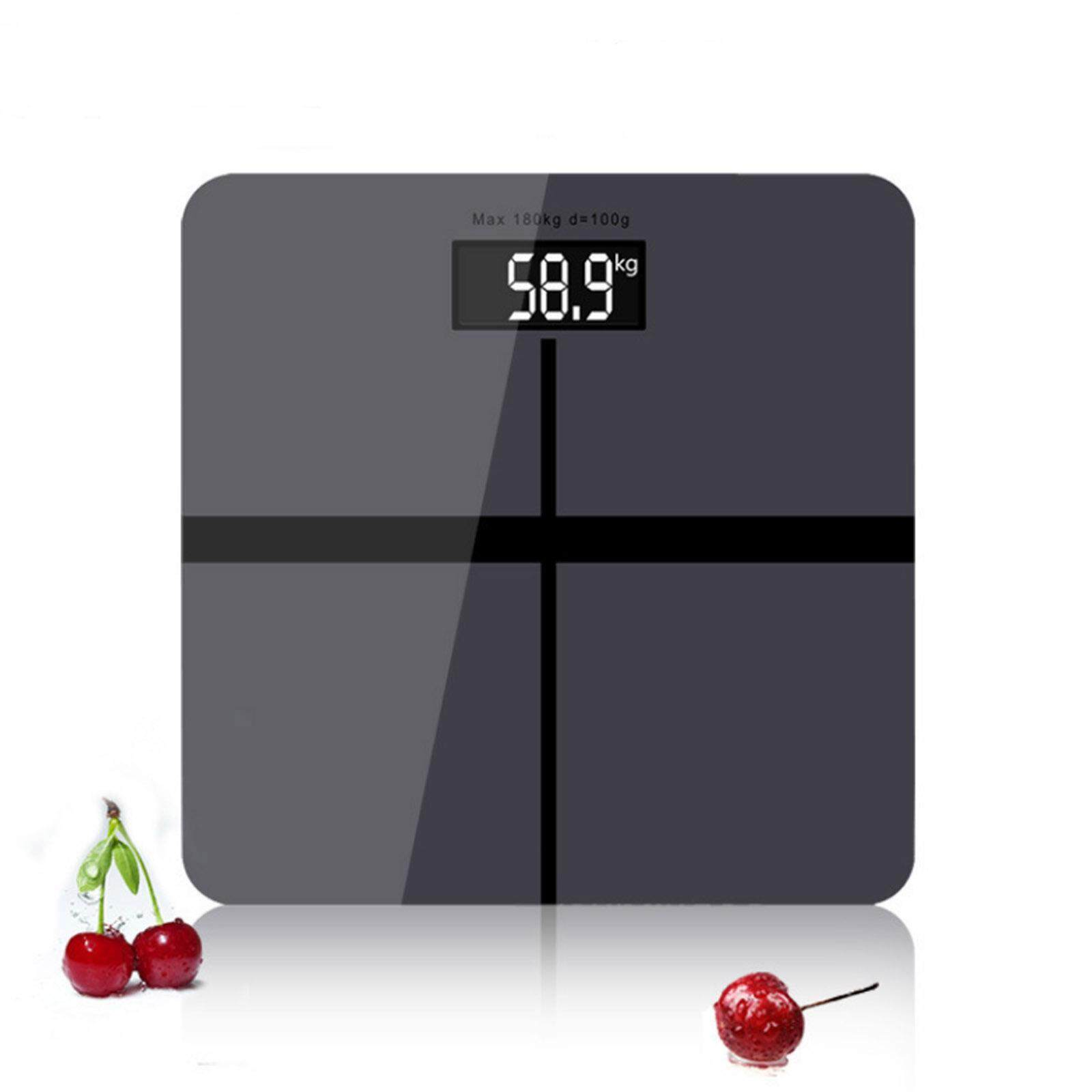NaVa Precision 28cm*28cm Weight Scale Digital Body Measuring Scale (SPACE GREY)