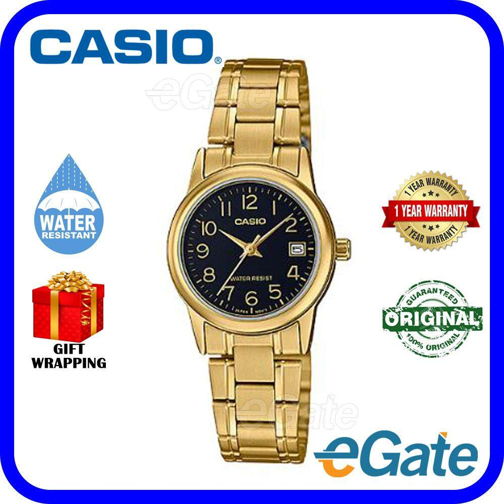 Casio LTP-V002G-1B Women Watch Analog Timepieces Original Malaysia