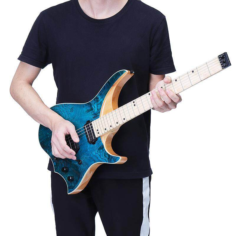 Blue ASH Wood top solid Flame maple Neck and Fingerboard Electric Guitar Malaysia