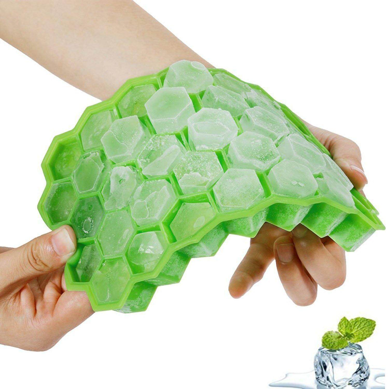 37 Compartments Mini Silicone Ice Cube Maker Mold - Green By Tvcc.