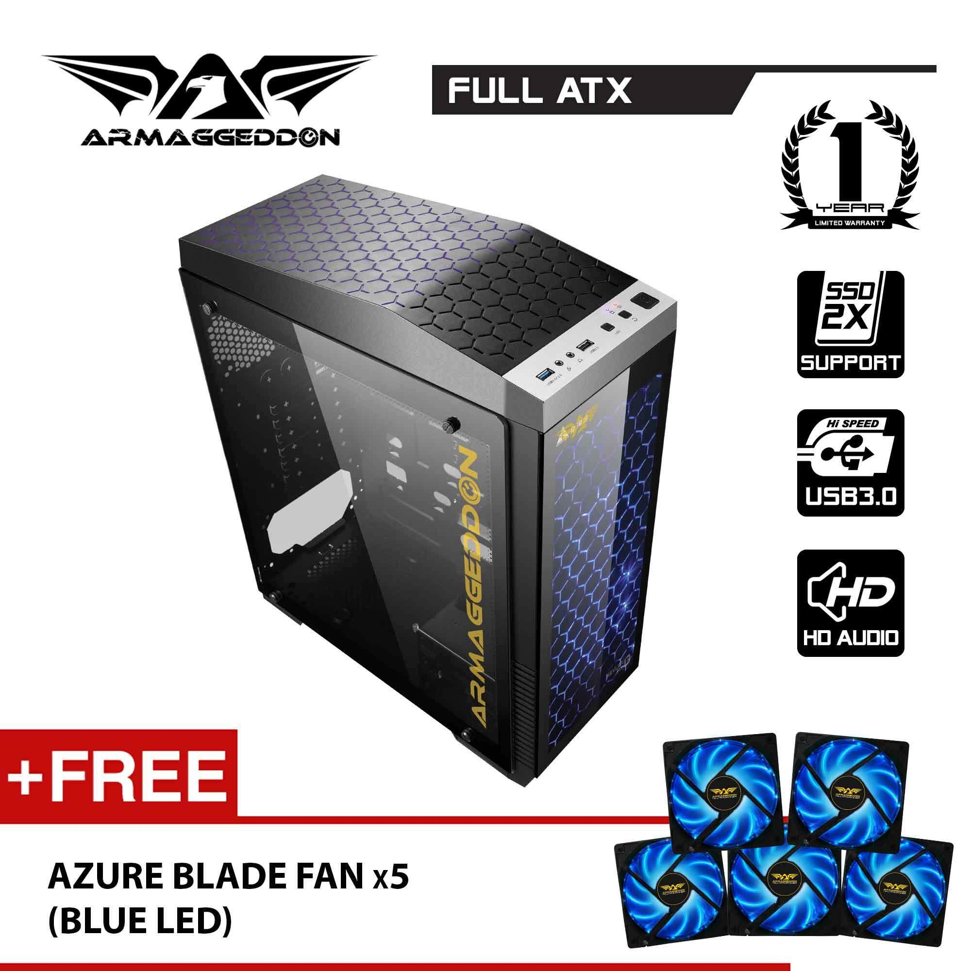(PROMOTION) Kevlar 13 FTX Full ATX Gaming PC Chassis Free Fan x 5 By Armaggeddon Malaysia