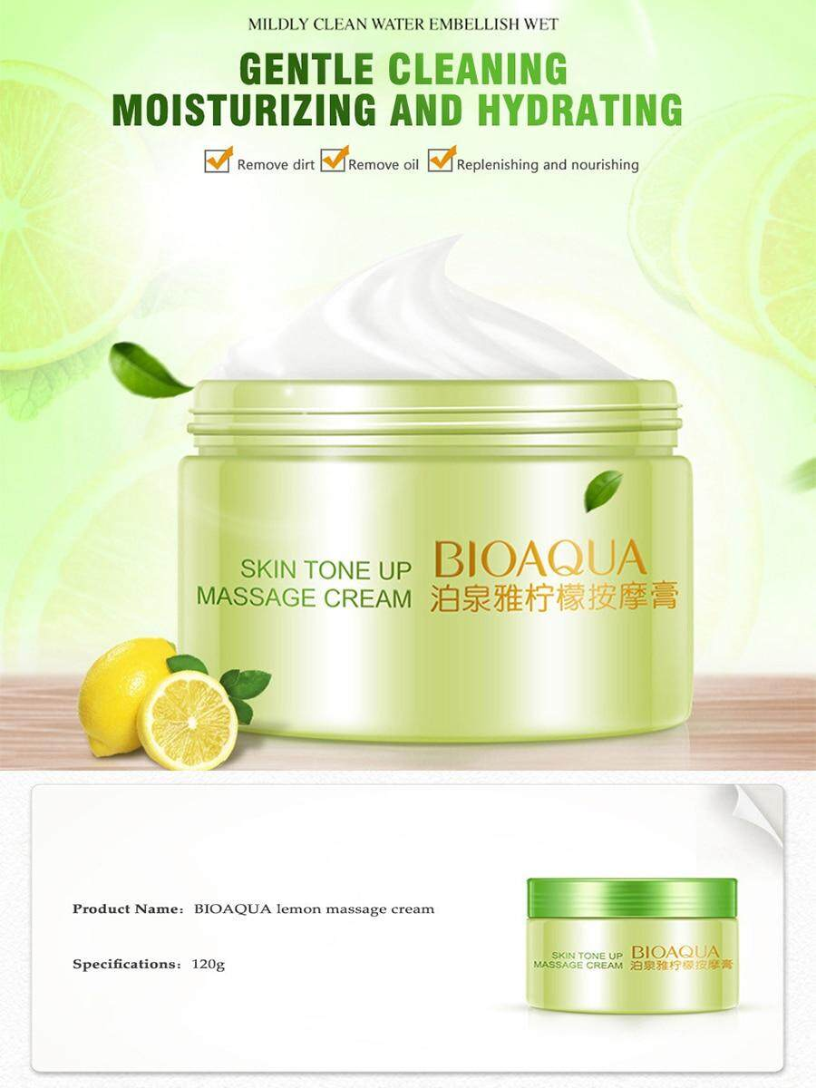 【100% Original】bioaqua Lemon Massage Cream 120g By Zl Cosmetic.