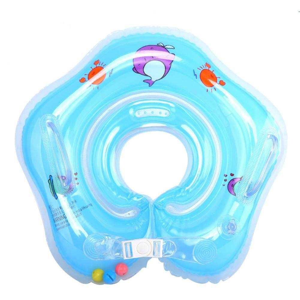 Fc Lb Children Outdoor Swimming Ring Baby Inflatable Neck Ring Double Air Bag Life-Buoy Cartoon Float Equipment Style:blue By Fashion Cabinet.