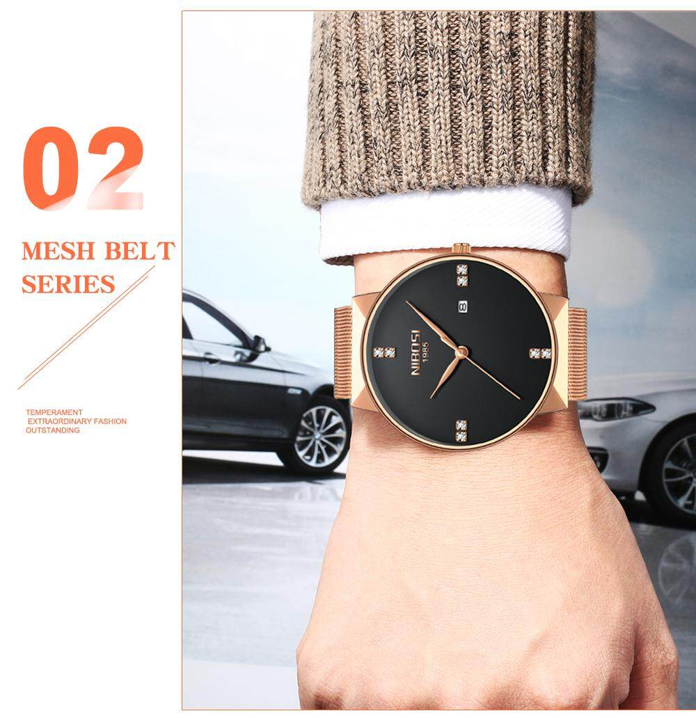 NIBOSI 2018 New Fashion Simple Watch Slim Mesh Band Mens Dress Watches Top Brand Luxury Male Relogio Masculino Quartz Wristwatch (14)