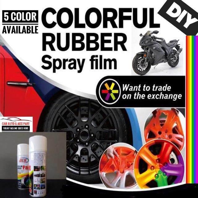Car Motorcycle Rubber Paint Plastic Dip Removable Rubber Spray Cat Matte  Black