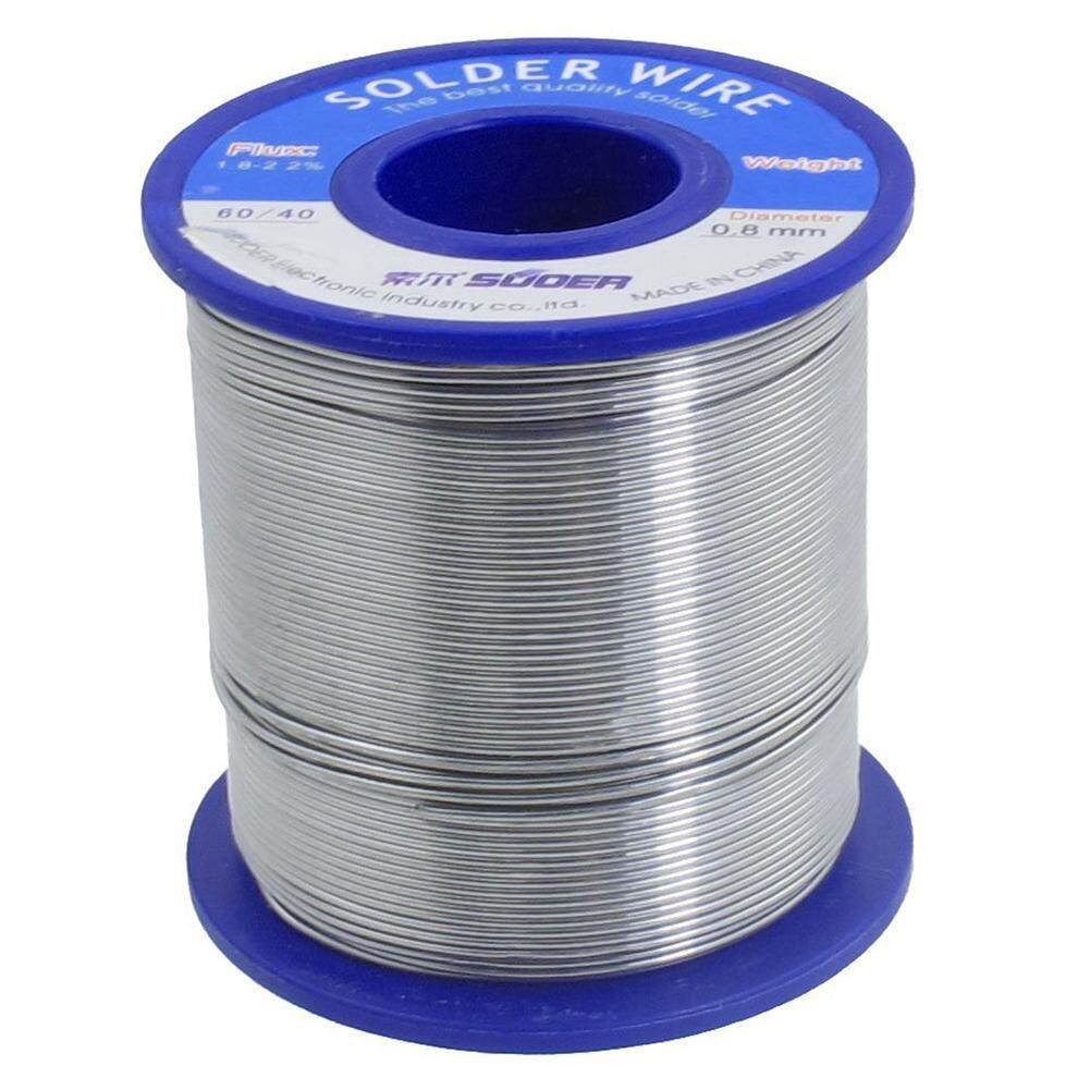 Solder wire 60/40, 1.8-2.2% solder paste, 0.8 mm diameter, 400 g roll