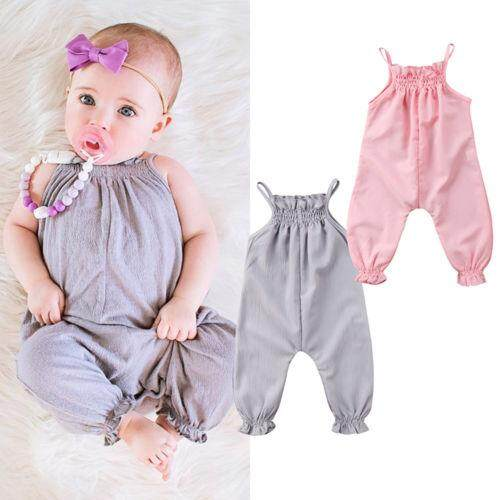 484a340261a8 Toddler Baby Girl Clothes Strap One-Pieces Romper Jumpsuit Playsuit Outfit 0 -24M