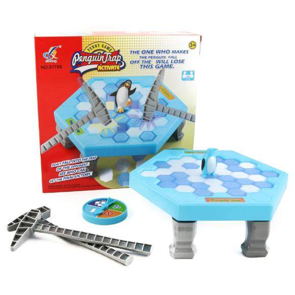 Penguin Trap Icebreaker Save the Penguin Kids Puzzle Toy Games Educational Toy