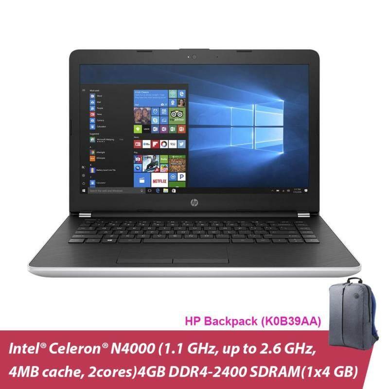 HP 14-CK0097TU 14 Laptop Silver ( Celeron N4000, 4GB, 500GB, Intel, W10 ) + Hp Backpack Malaysia