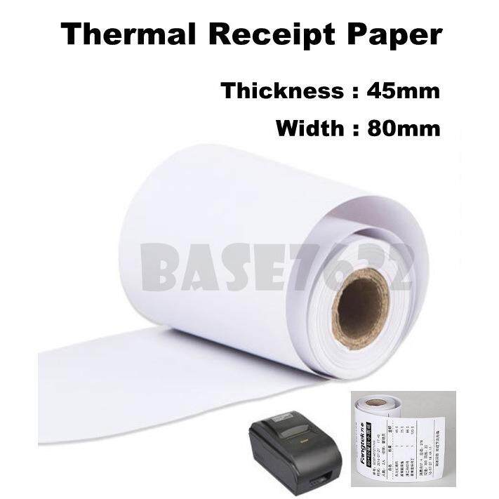 [100 Rolls] 80mm 8cm 80*45mm 100pcs Thermal Receipt White Paper Roll Rolls  1944 1 By Gadgets Distribution