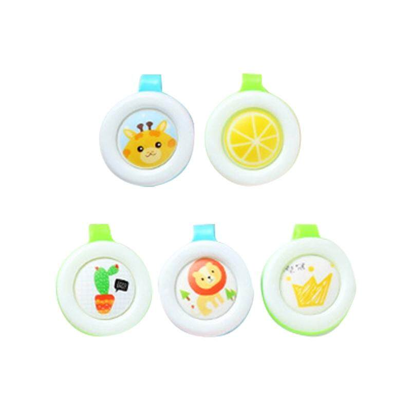 5pcs Creative Cartoon Style Child Baby Pregnant Woman color random delivery Portable Mosquito Repelling Buckle