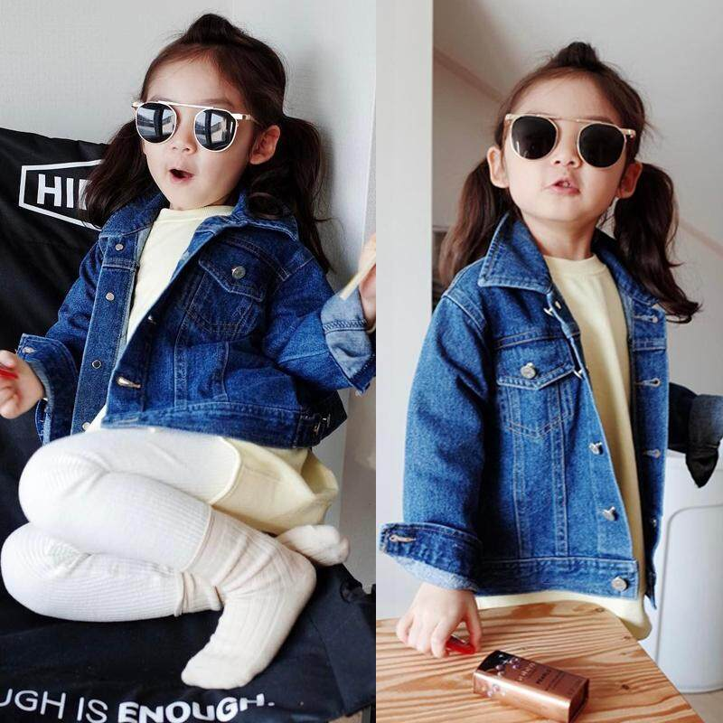 Girls Denim Jeans Fall Jacket Pocket Button Up Jacket Coat Warm Outwear Clothes By Mm88 Store.