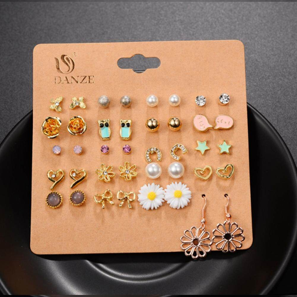 20 Pairs/set ear stud. Note: 1. Due to the light and screen difference, the item's color may be slightly different from the pictures.