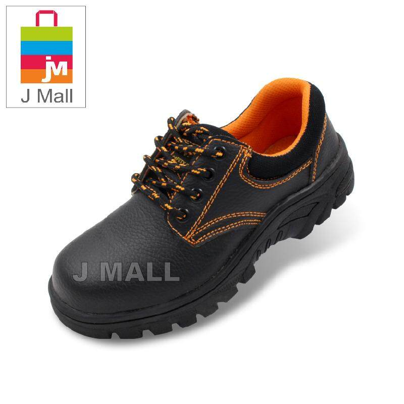 J Mall Zz-200 Steel Toe Cap Mid Sole Low Cut Safety Shoes - Black By J Mall.
