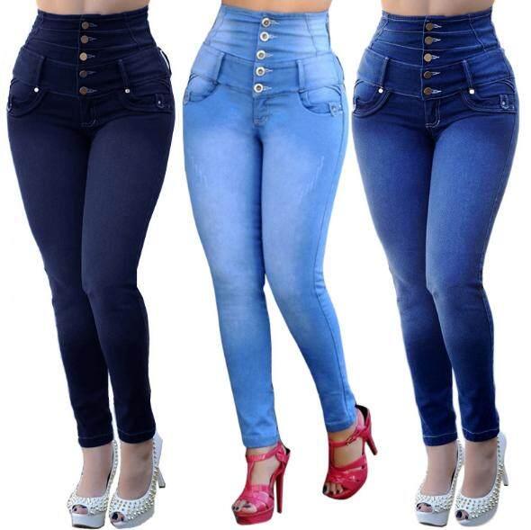 c9eac7d9c89ad China. YOYOMI High Waist Five Button Wide Waist Women s Jeans