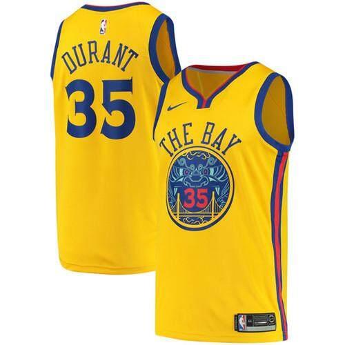 Nike Official MEN Golden State Warriors Kevin Durant  35 Gold Swingman  Basketball Jersey - City 3b8d2cffd