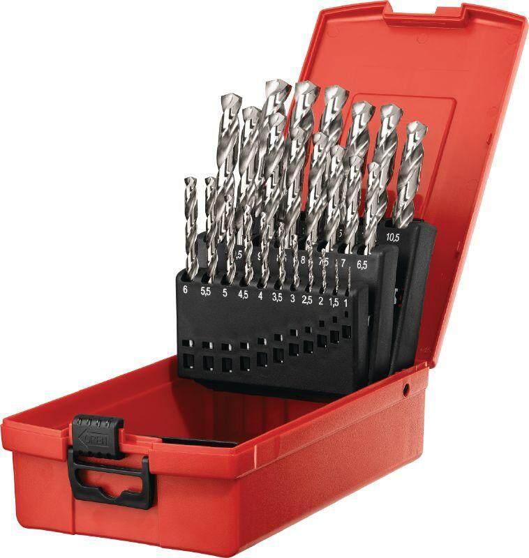 High Quality 25pcs HSS Drill Bit Set ( Metal Box ) High Speed Steel Drill Bit Set 25只装高速钢金属钻咀套