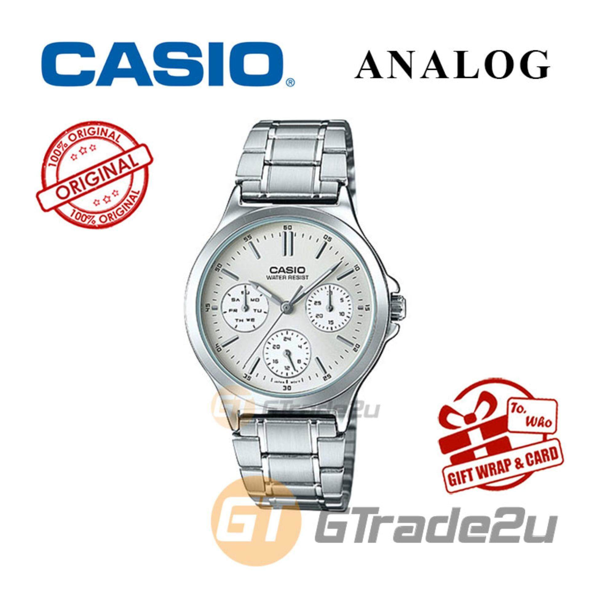 Casio Watches With Best Price At Lazada Malaysia Databank Ca 506 1df Jam Tangan Pria Silver Strap Stainless Steel Ladies Ltp V300d 7av Analog Watch Multi Hand Water Resistant