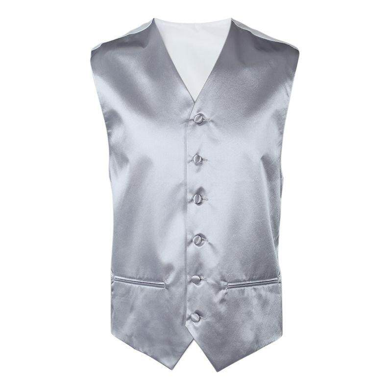 Mens Wedding Waistcoat Groom (silver Xxxl/uk 46) By Werinc.