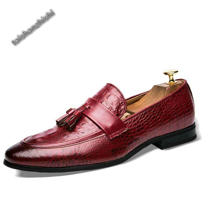 Business Formal Shoes Classic Office Wedding Mens Shoes (burgundy) By Taishanzhishi.