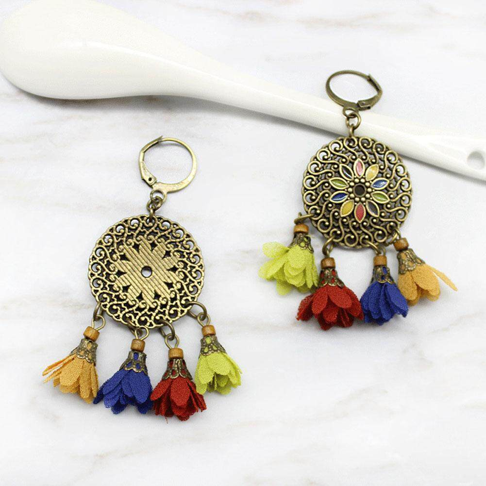 Bohemian Accessory Vintage Pendant Cutout Flower Unique Charm Female Tassel By Andrewxdi.