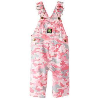 Camouflage Toddler Baby Girl Pink Camo Cotton Ranger Bib Overall Infant