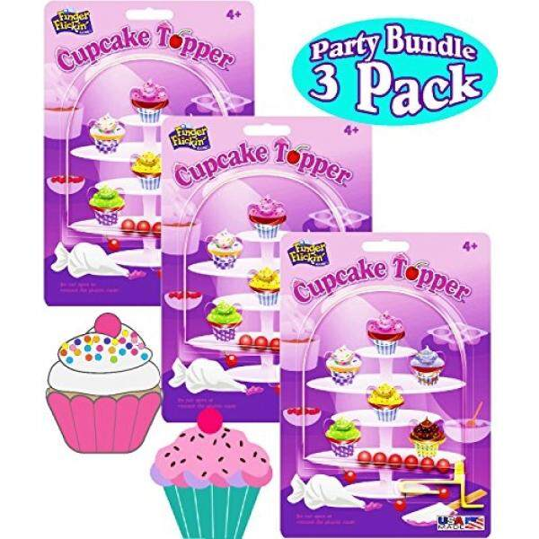 Cupcake Topper Finger Flickin Handheld Pinball Games Gift Set Party Bundle - 3 Pack By Buyhole.