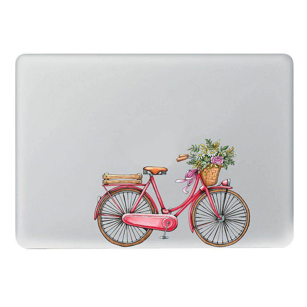 Free Shipping Prime Colorful Pattern Vinyl Decal Sticker Skin Power-Up Art Black With Precision-Cut For Apple Macbook Air Macbook Pro Macbook Pro Retina 13inch - Bicycle By Benefitwen.