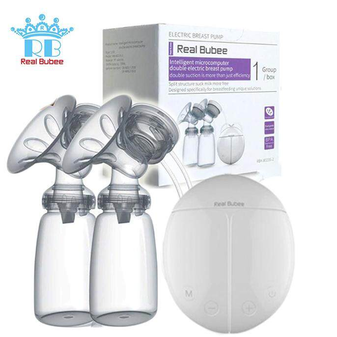 {ready Stock} Real Bubee Electric Auto Double Dual Breast Pump / Breastpump By Babybabyku.