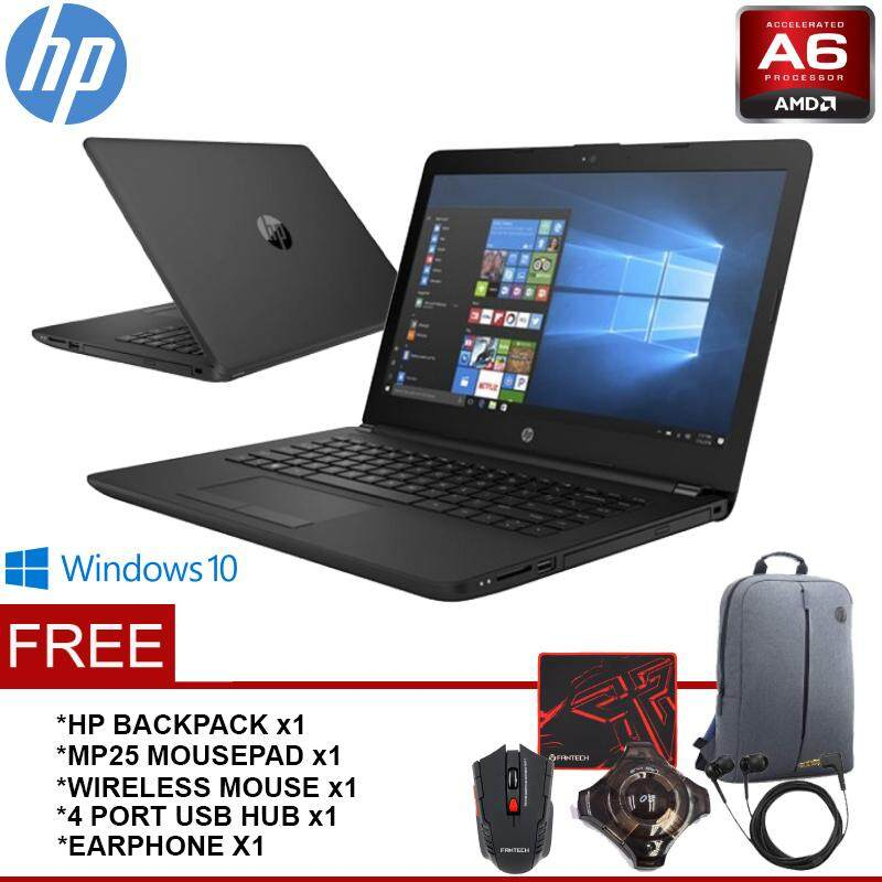 HP 14-bw053AU/ bw054AU AMD Dual-Core A6-9220 2.4GHz Notebook/Laptop (AMD A6-9220/4GB/500GB/14.0 HD/DVDRW/WIN10) Malaysia