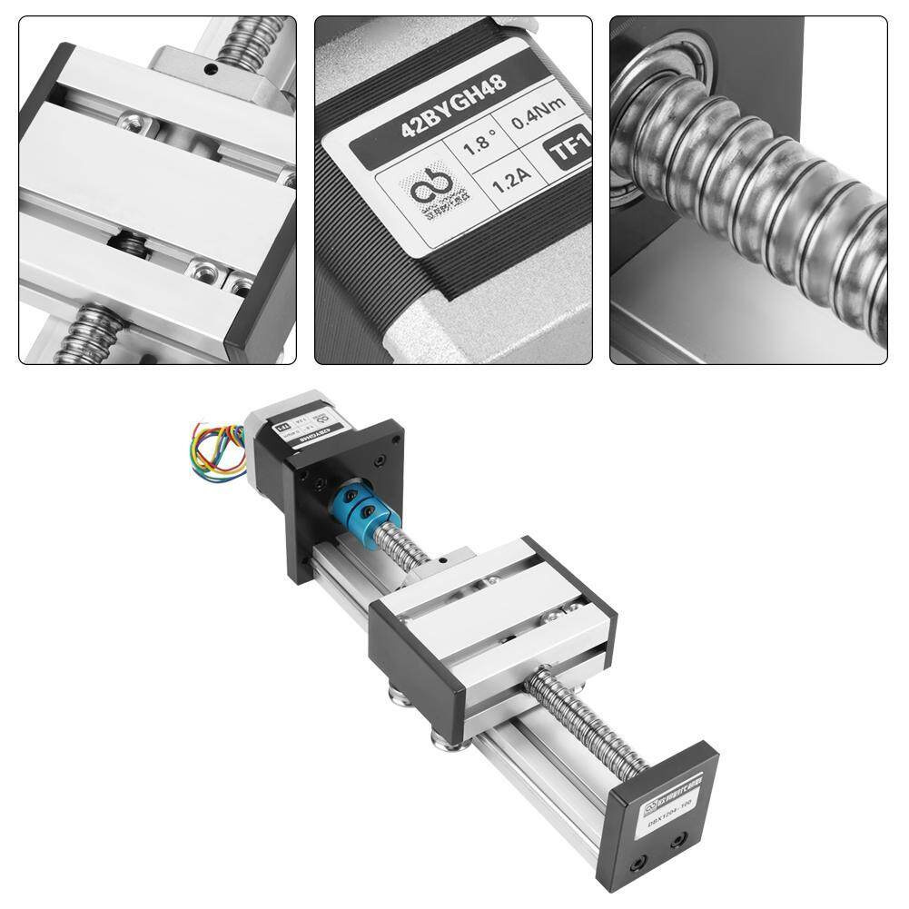 Buy 【Promotions】1204 Ball Screw Linear Slide Stroke Long Stage Actuator  with Stepper Motor 100mm Stroke Malaysia