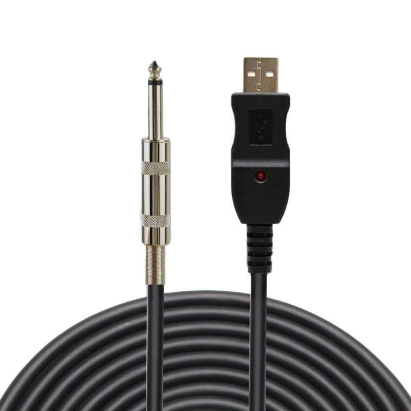 Big Sale3m USB Interface Male to 6.35mm Electric Guitar Converter Cable Studio Audio Cable Guitar Computer Connector Cord Adapter Malaysia