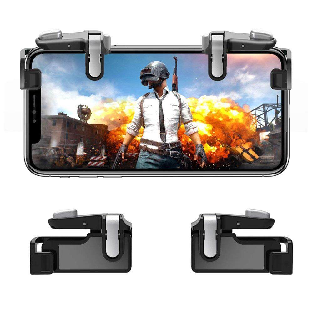PUBG / Fortnite / Knives Out Mobile Controller Hill & Wood Sensitive Shoot  and Aim Triggers for L1R1 Mobile Game Trigger Joystick for Android