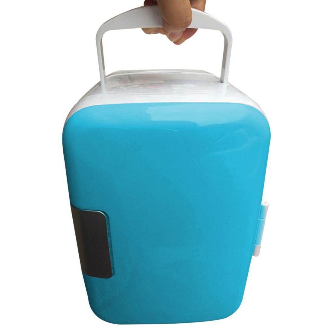 Blue 12v Mini Car Home Dual-Use Refrigerator Incubator 4l Refrigerator Portable Refrigerator Travel Refrigerator Incubator Us Plug By Superbuy888.