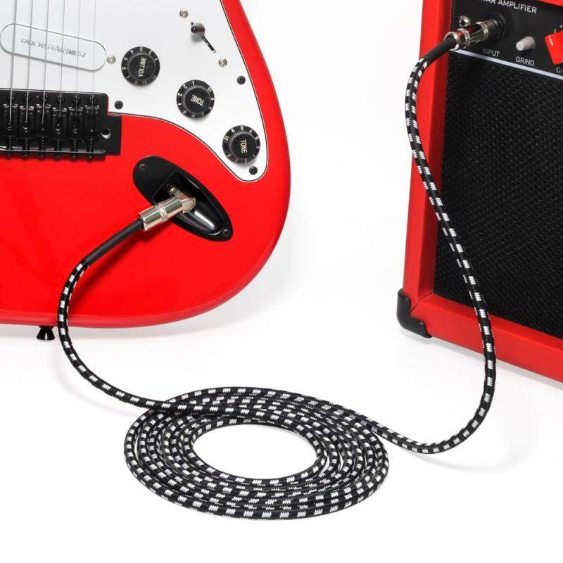 MT 3M Guitar Instrument Cable Braided Hi-Fi Sound Quality Audio Cable for Electric Guitar, Bass Guitar, Electric Mandolin Malaysia