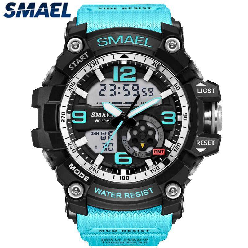 SMAEL Mens Watches Top Brand Luxury LED Digital Quartz Watch 1617 Men Sports 50M Waterproof Dual Time Military Casual Wrist Watch Malaysia