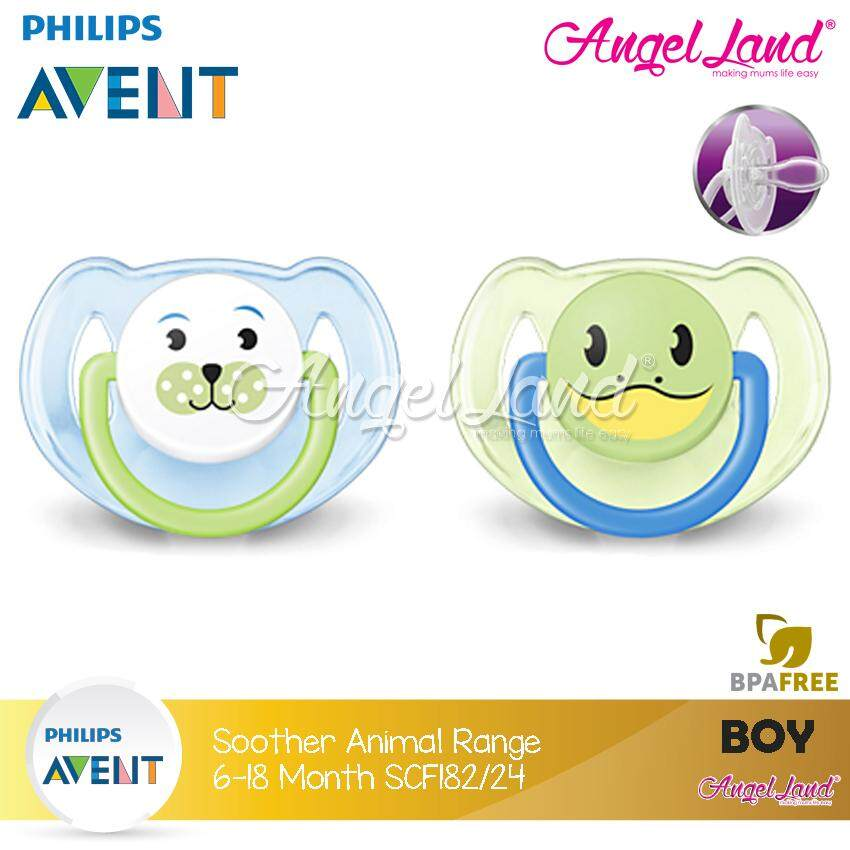 Philips Avent Soother Animal Range (6-18 Month) Twin Pack Blue -SCF182/24