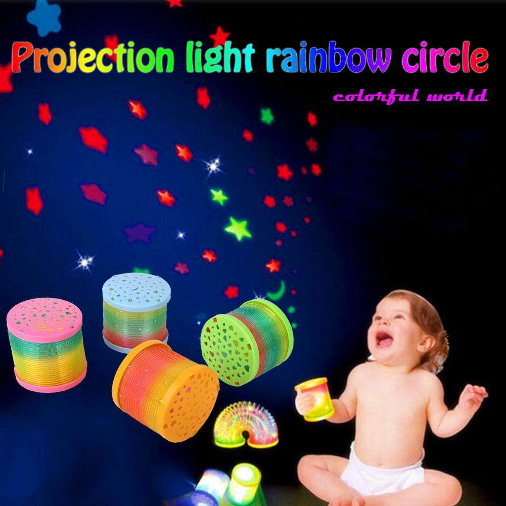 Spring Ring Rainbow Circle Flashing Plastic Toddlers Xmas Gifts By Michelle Trading.