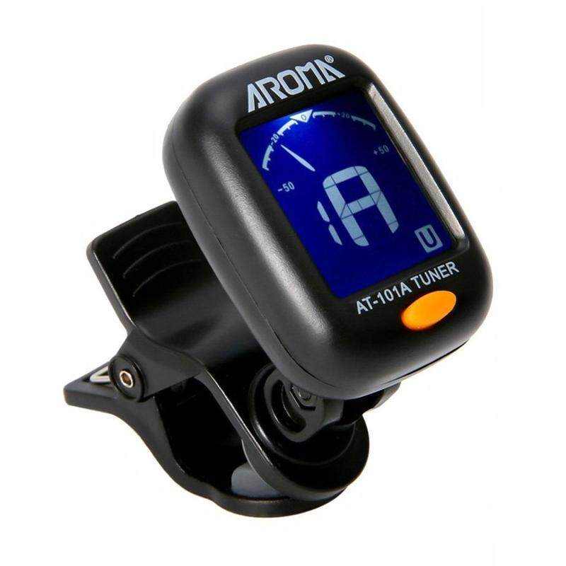 niceEshop Clip On Guitar Tuner - Chromatic Tuner For All Instruments, Ukulele, Guitar, Bass, Mandolin, Violin, Banjo, Large Clear LCD Display Malaysia