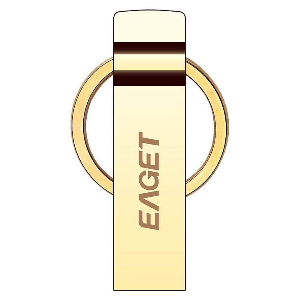 Eaget U90 USB 3.0 High Speed Capless Flash Drive Water Resistant Shock Resistant Polished Mirror Appearance 32GB Gold Malaysia
